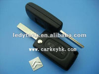 Hot sell Citroen key house blank 407 2 buttons flip key blanks key shell key case with groove