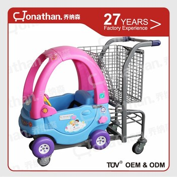 modern shopping kids toy shopping cart trolley with baby's seat