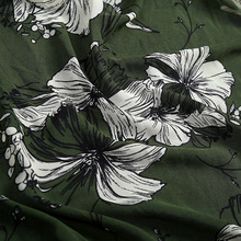 Soft 100%polyester silk printed chiffon fabric in stock