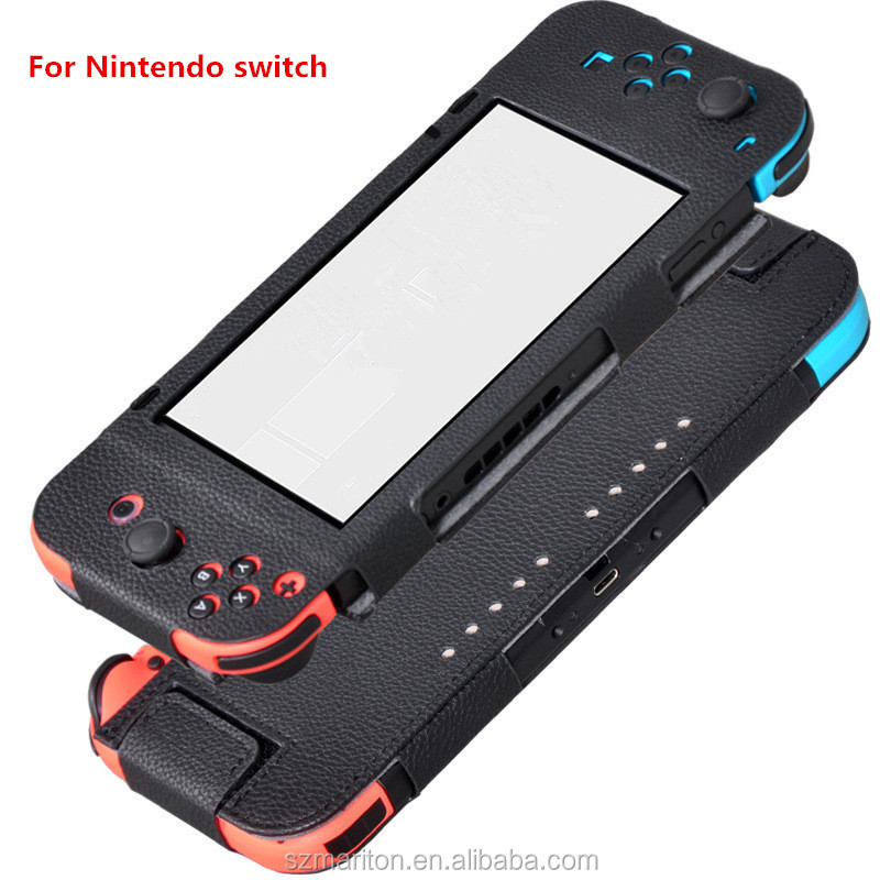 New arrival Video Games accessory 6.2 inch flip pu leather case for Nintendo switch NX/NS