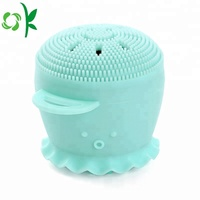 Hot selling Octopus shape Silicone Face Cleansing Brush Facial Scrubber Deep Pore Cleaning Brush