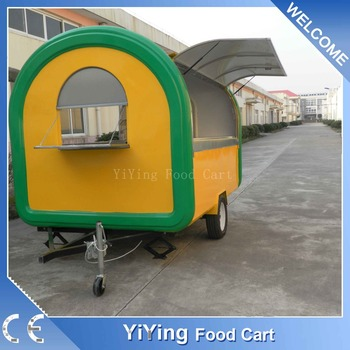 China custom roasted street fast food mobile kitchen trailer food truck