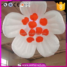 Outdoor Decoration Customized Hanging Colorful Inflatable Led Flower