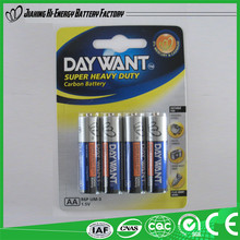 Factory Directly Provide Hot Product Dry Cell R6 Aa Battery 1.5V