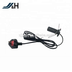 BS Approval Salt Lamp UK Power Cord With 303 Switch
