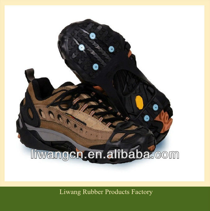 silicone anti slip shoes cover /CE Non-slip Crampons /Anti-Slip Ice Cleats