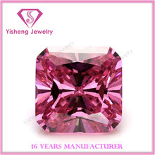 2x2mm Asscher Cut Square Colorful Cubic Zirconia Loose Gems