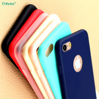 Solid candy color soft tpu matte finish phone case for iPhone 7