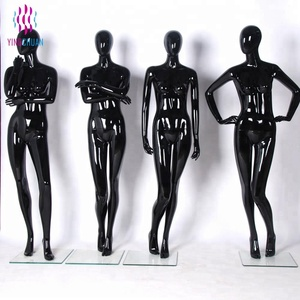 Black glossy abstract woman mannequin on sale