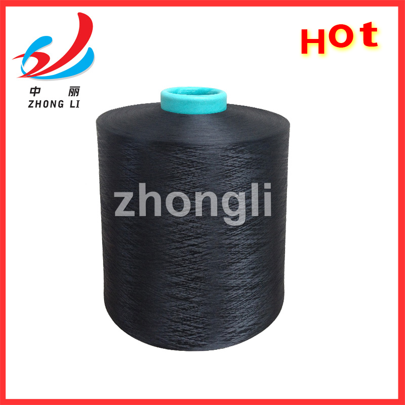 100% polyester textured DTY yarn Hangzhou Manufacturers T99 DDB dope dyed BLACK SD BRIGHT NIM HIM 75-600D A AA GRADE thread DTY