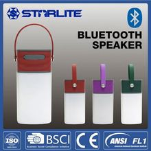 STARLITE USB rechargeable lantern AUX in FCC IPX4 led for garden bluetooth speaker