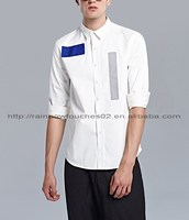 cotton new model wholesale custom stripe mens formal long sleeve shirts
