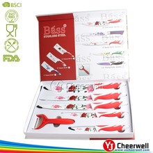 5pcs gift box set kitchen knife
