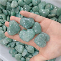 Natural amazonite hearts gemstones carved hearts hearts shaped amazonite stones