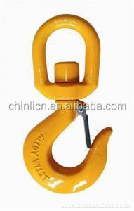 Alloy steel swivel hoist hook with latch in rigging