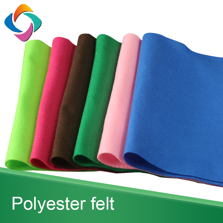 Non woven needle punch 100% polyester material soft type felt