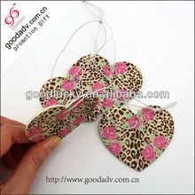Cheap perfumes fragrances hanging paper car air fresheners wholesale