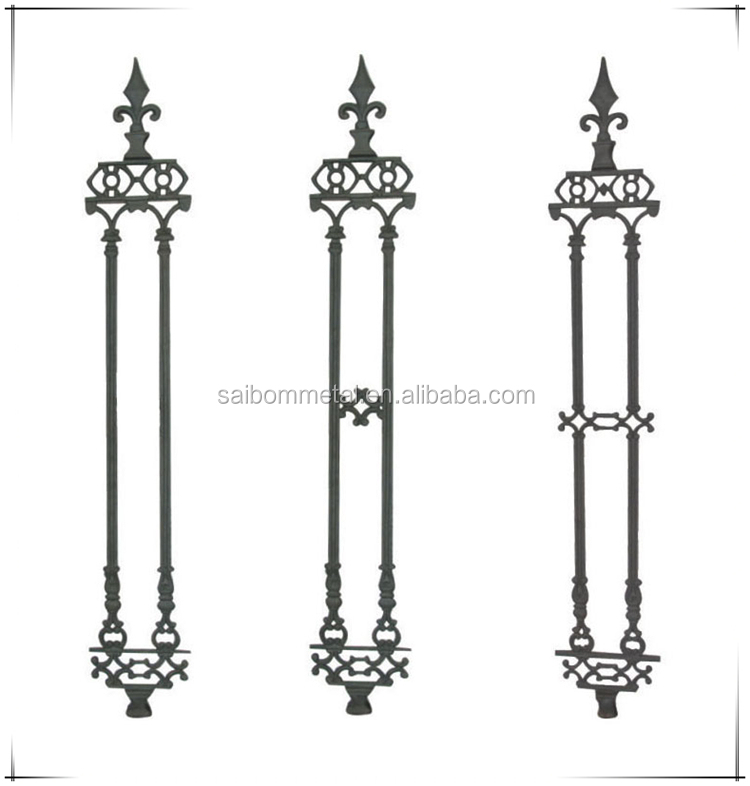 hot sale wrought iron fence parts ornamental cast iron fence