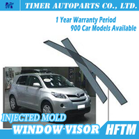 Injected mould car accessories for toyota corolla stainless steel window visor for toyota 2007+ IST