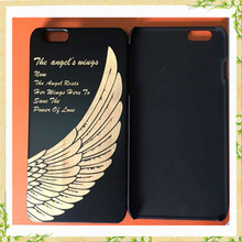 Wholesale china factory black color bamboo mobile phone case, for iphone 6 case
