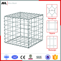 PVC Coated Galvanized Welded Wire Mesh Gabion Mattress Box Cage Stepped Gabion Retaining Wall Fence Maccaferri Gabion Basket