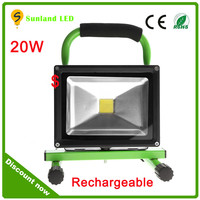 Camping Equipment Car Charge Portable Led Flood Light 20w Rechargeable For Emergency