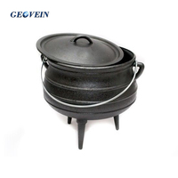 Factory Customized Size 3 South African Mini Cast Iron Potjie Pot