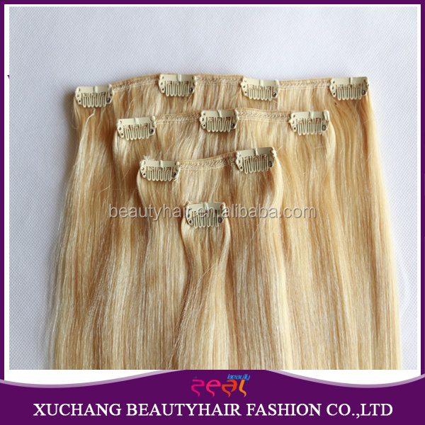 Cheap 100% human hair clip in hair extension for african american