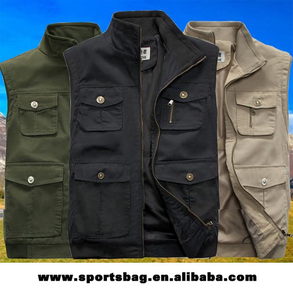 Top quality custom pure cotton fishing vest