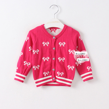 machine knitted kids clothes girl sweater wholesale baby clothes