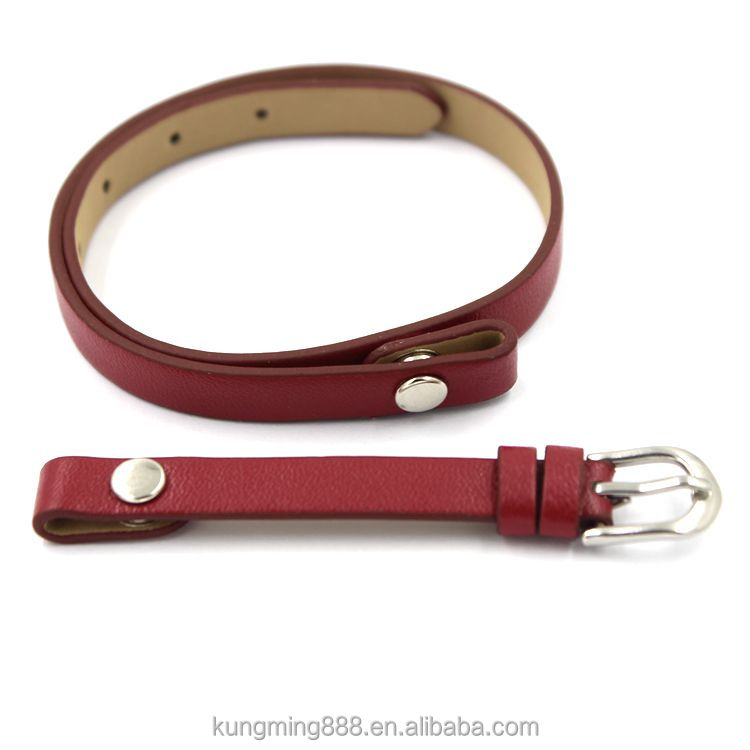 hot sale popular real leather adjustable wristband bracelets for locket pendant