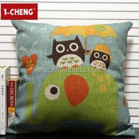 Wholesale heat fransfer printing custom pillow manufacturer for sofa leaning on