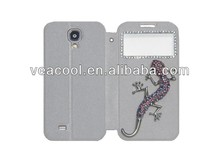 Gecko Handmade Screen Window Leather Case Cover for Samsung Galaxy S4 i9500 case