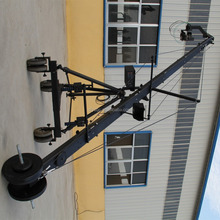 6m octagonal 2 axis head electronic video jib crane for camera