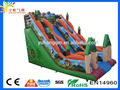 2016 inflatable kids giant big pvc tarpaulin tropical plam tree safari zoo animal jakarta slide