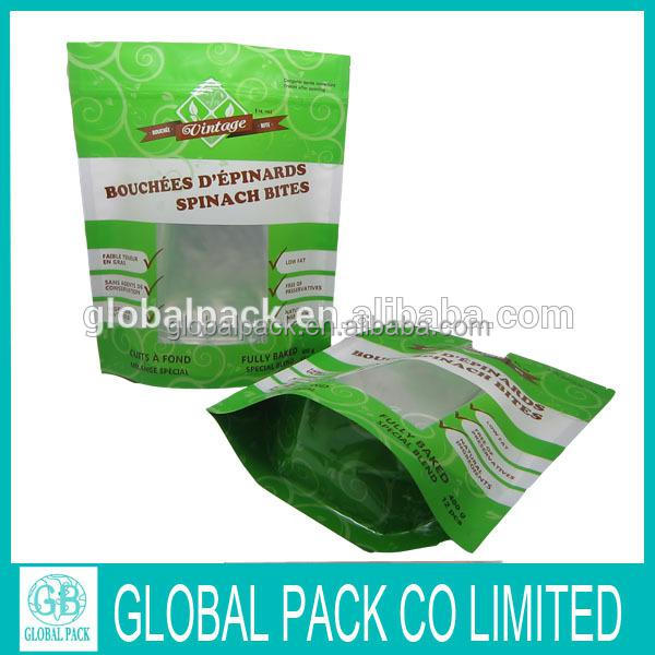 Heat sealed plastic ziplock bags for dried food,snack,tea packaging