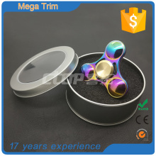 wholesale custom Stress Release Colorful fight spinner toy hand metal finger spinner