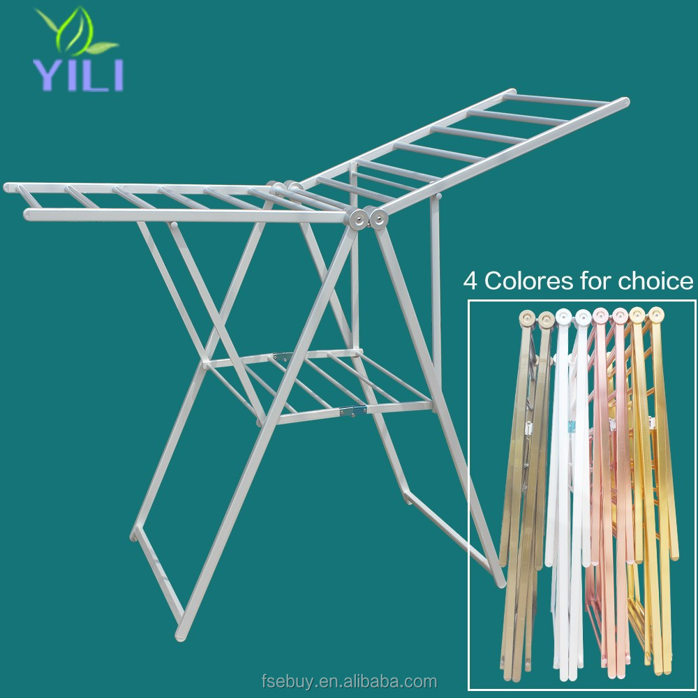 delux foldable butterfly type Aluminium clothes hanger folding clothes drying rack