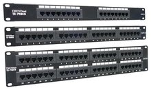 network amp cat6 cat5e 12 24 48 port patch panel 8p8c rack mount type snap-in style