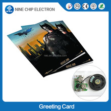 LCD video greeting card and video player mailable greeting card