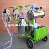220V/110V Double Barrels Stainless Steel Automatic Milking Machine Cheap Price Sale In India For Cows HJ-CM011