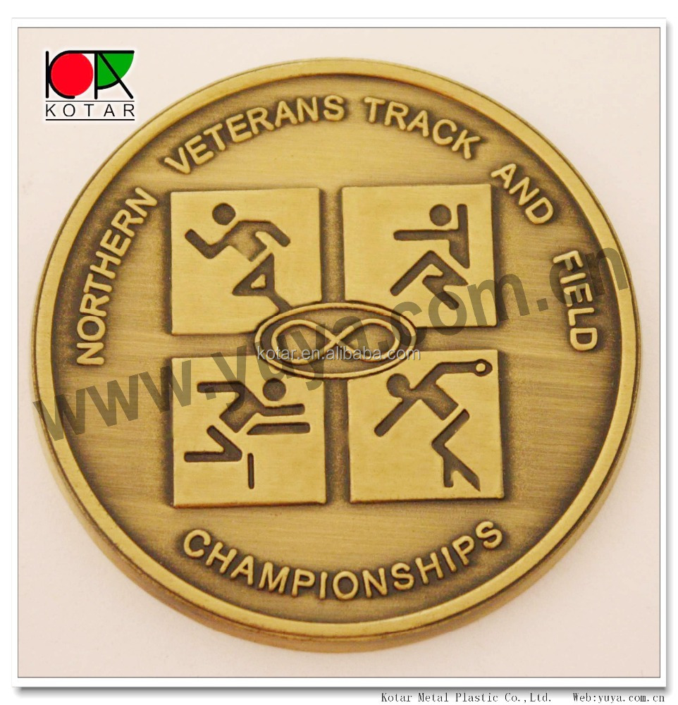 custom metal 2D design sport souvenir coin