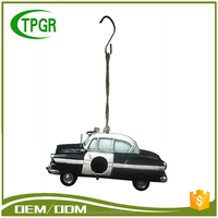 Outdoor Hanging Garden Decoration Lighting Car Polyresin Figurine Bird House With Bird Nest Price