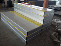 Convenience & flexible HDPE synthetic hockey dasher board/plastic ice rink boards/barriers/fence/hdpe panels