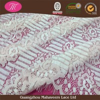 2016 Super quality Guangzhou factory luxury soft nylon eyelash bridal swiss voile lace fabric