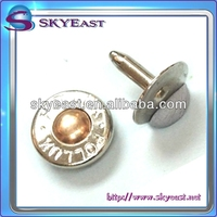 Fashion Metal Capped Rivet in 2 tones with Logo