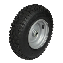 Rubber wheel 5 inch, stair climbing solid rubber wheel for trolley