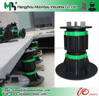outdoor adjustable plastic pedestal system for raised access floor