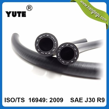 sae j30r9 iso/ts16949 diesel fkm engine rubber clear fuel hose for car