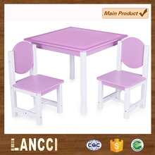 Cheap price colorful solid wood kids table and chairs